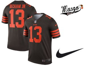Camisa Esporte Futebol Americano NFL Cleveland Browns Odell Beckham Jr. Número 13 Marrom