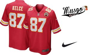 Camisa Nike Esporte Futebol Americano NFL Kansas City Chiefs Travis Kelce Número 87 Vermelha