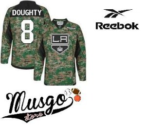 Camisa Reebok Esporte Hockey no Gelo NHL Los Angeles Kings Drew Doughty Número 8 Camuflada