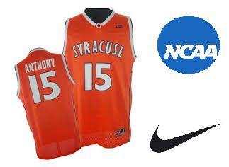 Camiseta Nike Regata Esporte Basquete Universitário NCAA Syracuse Carmelo Anthony Número 15 Laranja