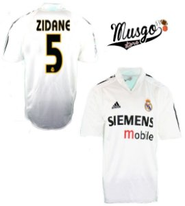 Camisa Adidas Esporte Futebol Real Madrid Zidane Número 5 Branca