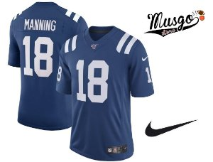 Camisa Nike Esporte Futebol Americano NFL Indianápolis Colts Payton Manning Número 18 Azul
