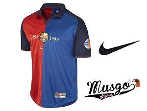 Camisa Nike Esporte Futebol Barcelona Edição Centenário Rivaldo Número 11