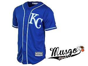 Camisa Esporte Baseball MLB Kansas City Royals Salvador Perez Número 13 Azul