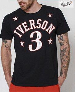 Camisa Esporte Basquete Philadelphia Allen Iverson Número 3 Preta