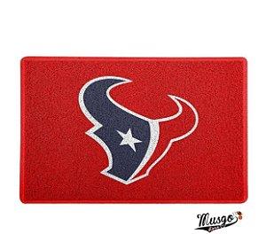 Tapete Capacho Esporte Futebol Americano NFL Houston Texans Vermelho