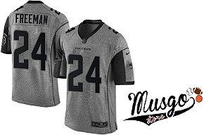 Camisa Nike Esporte Futebol Americano NFL Atlanta Falcons Devonta Freeman Número 24 Cinza