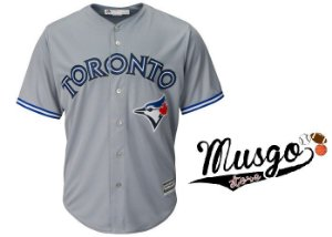 Camisa Esporte Baseball MLB Toronto Blue Jays Número #19 José Bautista  Cinza