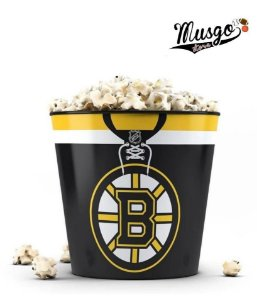 Balde de Pipoca Esporte Hockey NHL Boston Bruins preto