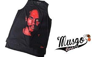Camiseta Regata Basquete musgo Michael Jordan Legend Preta
