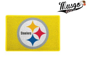 Tapete Capacho Esporte Futebol Americano NFL Pittsburgh Steelers Amarelo