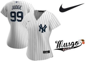 Camisa Nike Esporte Baseball New York Yankees Aaron Judge Número 99 Feminina