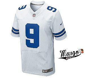 Camisa Nike Esporte Futebol Americano NFl Dallas Cowboys Tony Romo Número 9 Branca