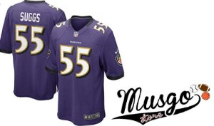 Camisa Nike Esporte NFL Futebol Americano Baltimore Ravens Terrell Suggs Número 55 Roxa