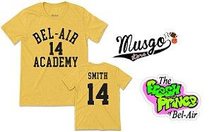 Camisa Esporte - Série Um Maluco No Pedaço Bel Air Academy Will Smith Número 14 Amarela
