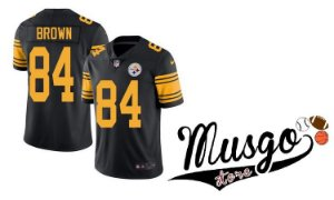 Camisa Esporte Futebol Americano Nike NFL Pitsburgh Steelers Antonio Brown Número 84 Color Rush