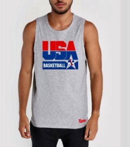 Camiseta Regata Esporte Basquete Seleção Americana Dream Team Olímpiadas Barcelona 1992 Michael Jordan Número 9 Cinza