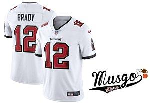 Camisa Nike Esporte Futebol Americano NFL Tampa Bay Buccaneers Tom Brady Número 12 Branca