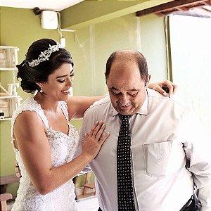 Tiara de noiva prata e zircônia