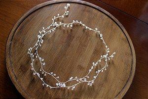 Tiara headband de noiva fio de cristal