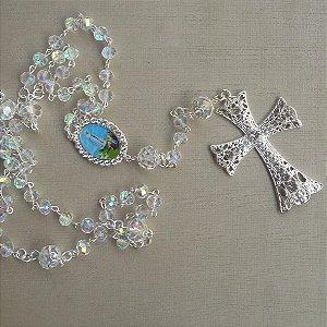 Terço para noiva cristais fátima