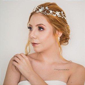 Tiara de noiva casamento de dia
