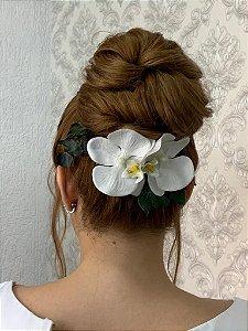 Arranjo para cabelo de noiva flores  artificiais orquideas