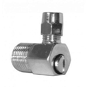 Niple 90° Adaptador 1/2 Mangueira 3/8 com Regulagem