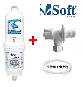 Filtro Purificador Soft + Registro + Mangueira