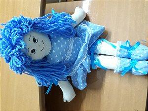 Boneca de tecido azul