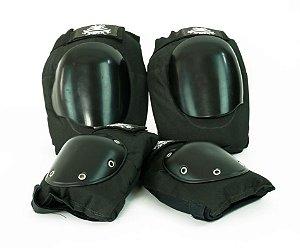 Kit De Proteção e Segurança para Adultos - Skate E Patins cor Preto Marca Shock