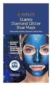 Kit 3 Unids Máscara Facial Starkle Diamante Com Glitter Azul - Skinlite