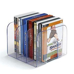 Organizador para livros e revistas com 3 divisões - 1 un