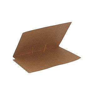 Pasta dígito-terminal 235 x 345mm, cartão kraft 300g, com grampo metálico - 100 un