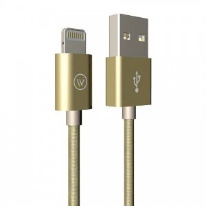 Cabo USB Lightning Tough 1,2m iPhone/iPad Dourado - iWill