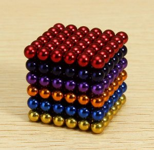 Cubo Magnético colorido 216 Esferas Magnéticas Brinquedo 3mm