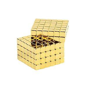 Cubo Magnético quadrado 216 peças Neocube dourado 3mm