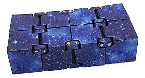 Cubo Mágico Infinito Fidget Hand Spinner espacial azul