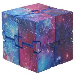 Cubo Mágico Infinito Fidget Hand Spinner espacial roxo