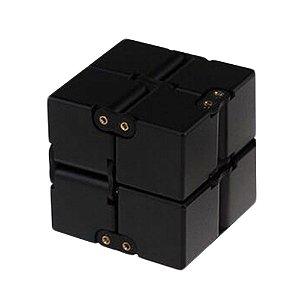 Cubo Mágico Infinito Cube Fidget Infinity Hand Spinner preto