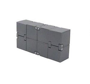 Cubo Mágico Infinito Cube Fidget Infinity Hand Spinner cinza