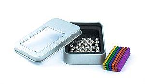 Brinquedo Educativo Magnético Imã 63 Peças Neocube colorido