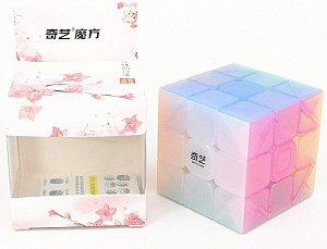 Cubo Mágico Profissional QiYi Jelly 3x3x3 sem adesivo