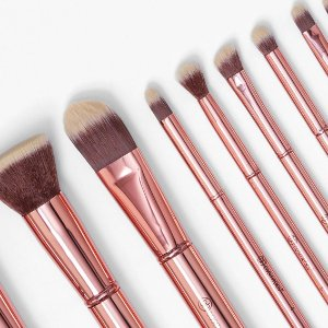 Bh Cosmetics - 11 Piece Brush Set - Metal Rose