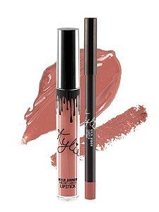 Kylie Cosmetics - Batom E Lápis Velvet - Candy K