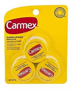 Carmex - Protetor Labial - Classic - 3 Latinhas