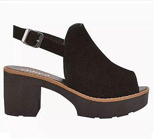 sandália sapato tratorada salto grosso