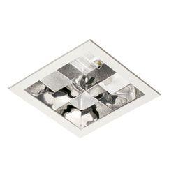 Luminária de Embutir Recuado Aletas Parabólicas 22x22cm RX7s