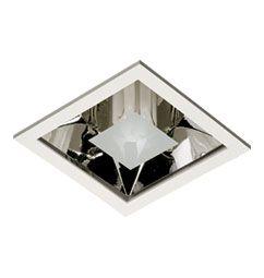 Luminária de Embutir 15x15cm 1xE27/UN-4p