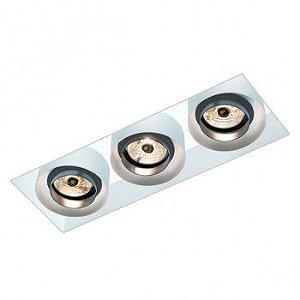 Luminária Retangular de Embutir 16x40cm AR70